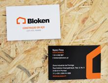 Cartões Bloken Construção em Aço